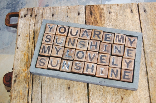You Are My Sunshine Blocks by Sugarboo Designs
