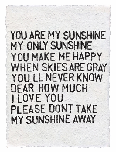 You Are My Sunshine Handmade Paper Print by Sugarboo Designs
