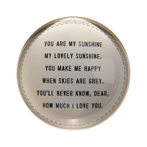 You Are My Sunshine Paper Weight (Set of 2) by Sugarboo Designs