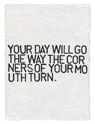Your Day Will Go Handmade Paper Print by Sugarboo Designs