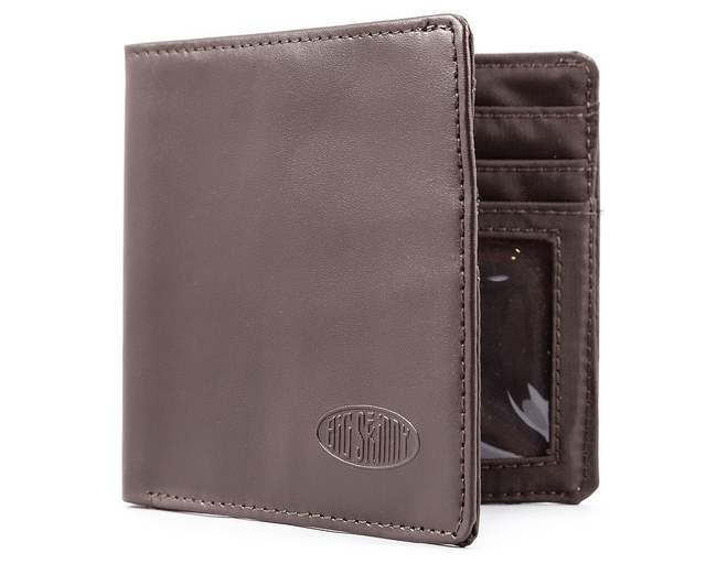 Leather Hybrid World Bi-Fold Wallet with Zippered Pocket. 57 Reviews
