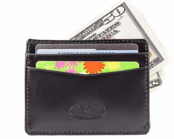Leather Open-Sided Mini Skinny Card Case