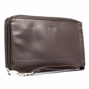 Leather Panther Clutch