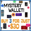 Mystery Wallet! Buy 3 for just $30!