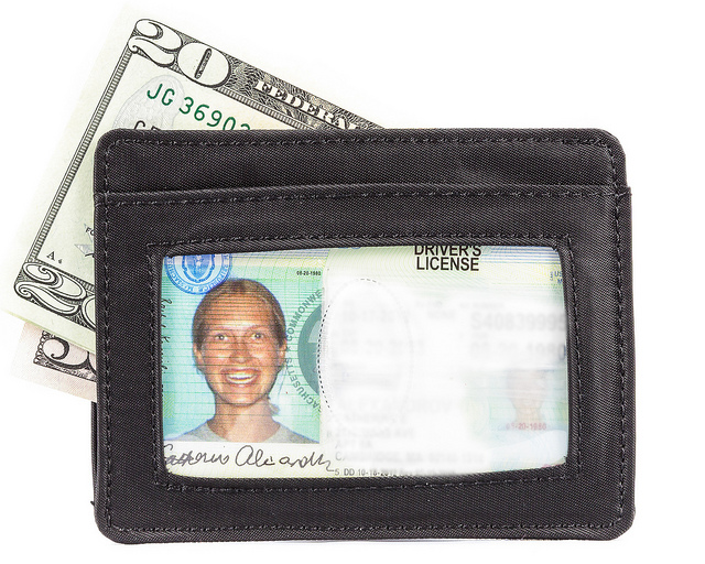 Holds Up to 9 Cards Big Skinny Open Sided Mini Skinny Card Slim Wallet