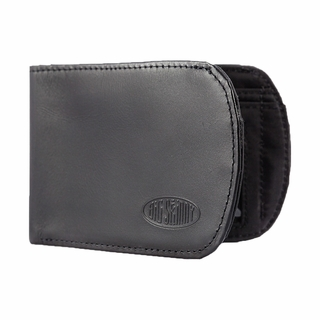 RFID Blocking Leather Curve Bifold