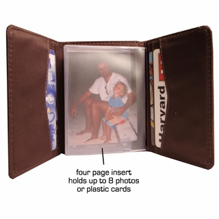 Tri-fold Wallet Card Insert or Photo Insert