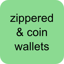 Zippered and Coin Wallets!