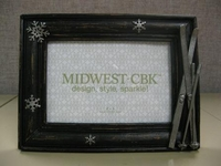 Snowflake & Skis Photo Frame 4x6