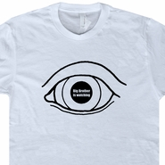 1984 George Orwell T Shirt Big Brother Is Watching Political Tee