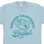 Amazon Rainforest T Shirt Amazon River Shirt Cool Animal Shirt Brazil Shirt