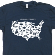 American Wildlife T Shirt Nature T Shirts Cool Hiking T Shirt Camping Tee