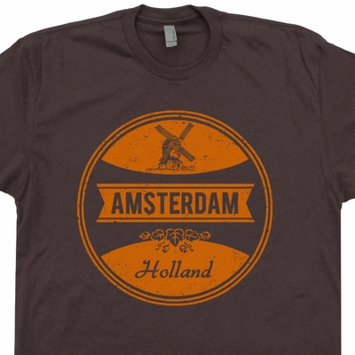 Amsterdam T Shirts Netherlands Shirts Vintage Beer T Shirts Soccer Tee
