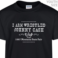 Arm Wrestling Johnny Cash T Shirt Funny Kids Shirt Youth Shirts