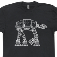 AtAt T Shirt Vintage Star Wars Shirt The Empire Strikes Back Shirt
