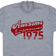 Awesome Since 1975 T Shirt Funny 1975 Birthday T Shirt Born In 1975