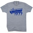 Awesome Since 1977 T Shirts Born In Made 1977 40th Birthday Funny Tee