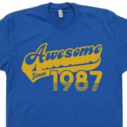 Awesome Since 1987 T Shirts Born In Made 1987 30th Birthday Tee Shirt