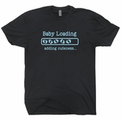 Baby Boy Loading T Shirt Pregnancy Announcement Gift New Mom Tee