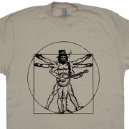 Banjo T Shirt DaVinci Man Bluegrass Shirt Vintage Folk Rock Shirts Band Tees