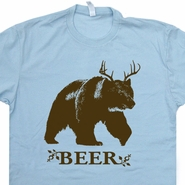 Bear Deer Beer T Shirt Funny Beer Shirt Vintage Beer T Shirt Cool Graphic