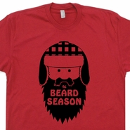 It's Beard Season T Shirt Funny Lumberjack T Shirts Moustache Tees