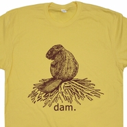 Beaver Dam T Shirt Funny Animal Shirt Beaver T Shirt Vintage Animal Graphic