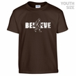 Bigfoot Believe T Shirt Funny Kids Shirts Cool Youth Sasquatch Shirts
