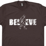 Bigfoot Believe T Shirts Funny Sasquatch Shirt Bigfoot Graphic Tee Yeti