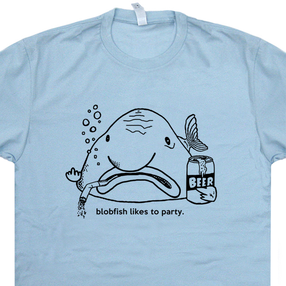 10b8598e Blobfish T Shirt Funny Beer Shirts Cool Bar Shirt Vintage Pub Tee Shirt
