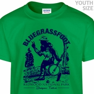 Bluegrassfoot Bluegrass T Shirt Kids Banjo Shirt Funny Youth T Shirts