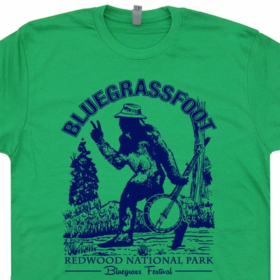 Bluegrassfoot Bluegrass T Shirts Vintage Folk Rock Shirts