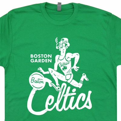 Boston Celtics Vintage T Shirts Fighting Irish Retro Basketball Tees