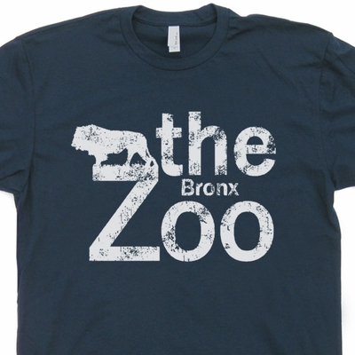 Bronx Zoo T Shirt Vintage New York City T Shirt NYC Brooklyn Zoo Shirt
