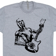 C3PO Playing Guitar Shirt Fender Stratocaster T Shirt Vintage Guitar Tee