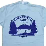 Camp Crystal Lake T Shirt Vintage Friday The 13th Shirts Jason Voorhees Tee