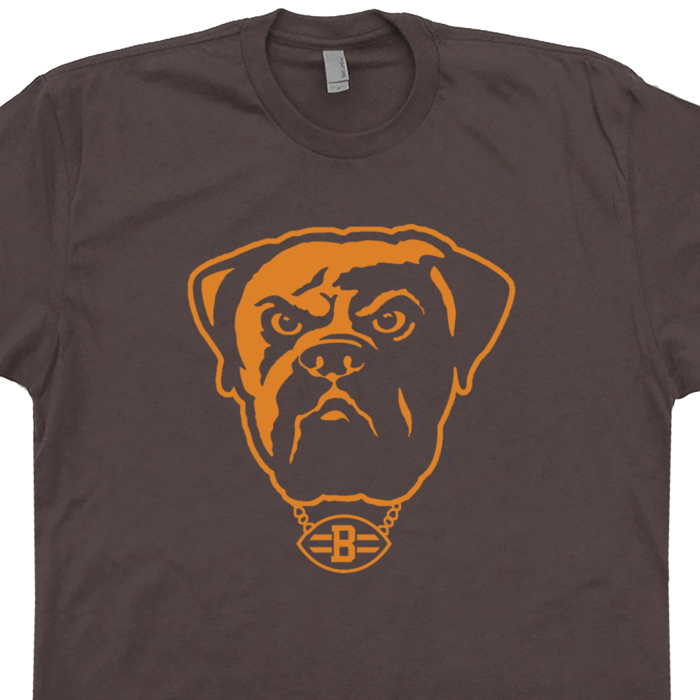Vintage cleveland brown shirt retro cleveland browns t for Cleveland t shirt printing