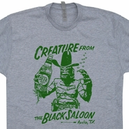 Creature From The Black Saloon T Shirt Austin Texas Bar Pub Shirt