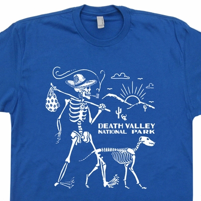 Death Valley T Shirt Skeleton Hiking Shirt Joshua Tree National Park Shirt