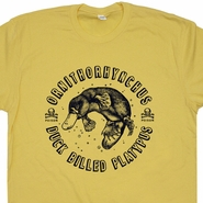 Duck Billed Platypus T Shirt Funny Animal T Shirts Vintage Nature T Shirt