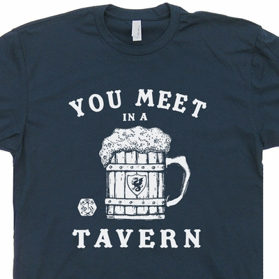 Dungeons and Dragons Tavern Shirt 20 Sided Dice T Shirt Magic The Gathering D&D