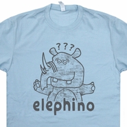Elephino T Shirt Elephant Shirt Rhino T Shirt Funny T Shirt Saying Animal