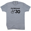 Funny 30th Birthday T Shirt Middle Finger Tee Shirt I'm This Many Gift