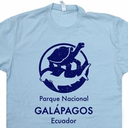 Galapagos Island T Shirt National Park Shirts Charles Darwin Evolution Tee