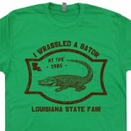 Alligator Wrestling T Shirt Alligator Shirt Florida Gators Vintage WWF Shirt