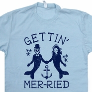Getting married T Shirt Mermaid T Shirt Funny Wedding Announcement Gift