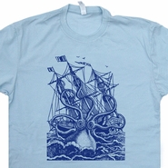 Giant Octopus T Shirt Cool Sailing Sailor Sea Monster T Shirt