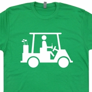 Golf Cart Funny T Shirt Beer Golfing Caddyshack Bushwood Movie Tees