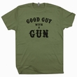 Good Guy With A Gun T Shirt NRA T Shirt Clint Eastwood T Shirt Pro Gun