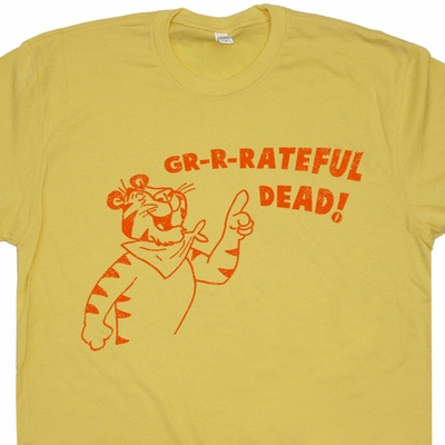 Grateful Dead T Shirt Jerry Garcia T Shirt Tony The Tiger Vintage Band Tees